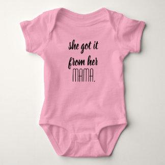 """Body Para Bebê """"Obteve-lhe de seu Mama"""" bebê uma parte"""