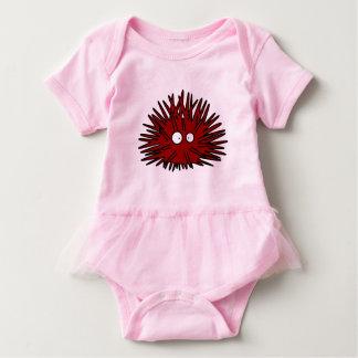 Body Para Bebê Oceano vermelho uni espinhoso do ouriço do