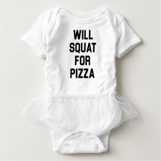 Body Para Bebê Ocupa para a pizza
