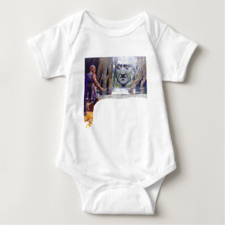 Body Para Bebê Odin na frente de Mimir
