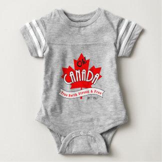 Body Para Bebê Oh Canadá! Norte verdadeiro forte e livre