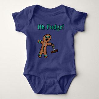 Body Para Bebê Oh homem de pão-de-espécie do Fudge