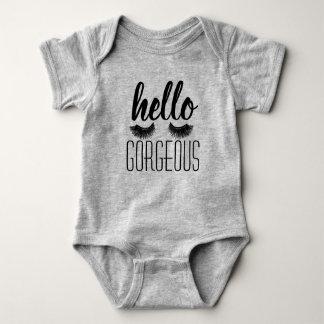 """Body Para Bebê """"Olá!"""" bebê lindo uma parte"""