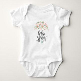 Body Para Bebê Olá! guarda-chuva do primavera