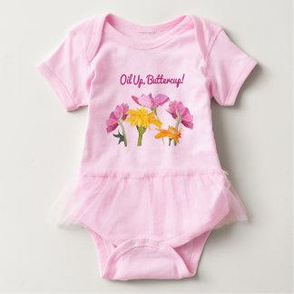 Body Para Bebê Óleo acima, botão de ouro! Bodysuit do tutu do
