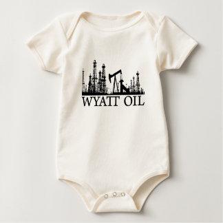 Body Para Bebê Óleo de Wyatt/bebê/logotipo preto