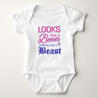 Body Para Bebê Olha como bebidas de uma beleza como um animal