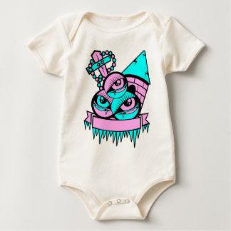Body Para Bebê olho vampiro fun
