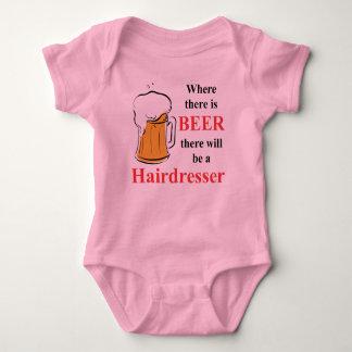 Body Para Bebê Onde há cerveja - cabeleireiro