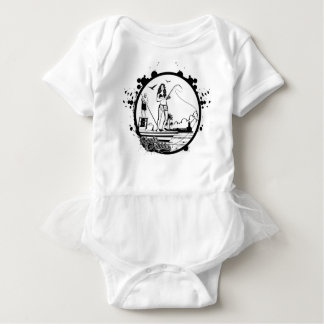 Body Para Bebê Ondinhas & mordidelas que pescam o logotipo do