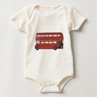 Body Para Bebê Ônibus do vermelho do autocarro de dois andares
