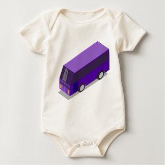 Body Para Bebê Ônibus roxo