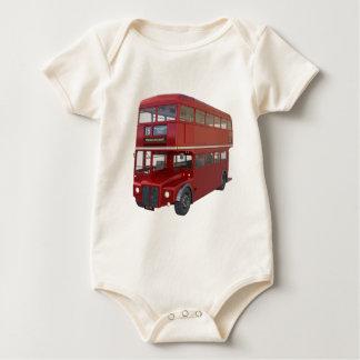 Body Para Bebê Ônibus vermelho do autocarro de dois andares no