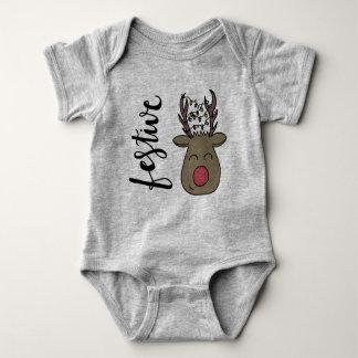 Body Para Bebê Onsie festivo