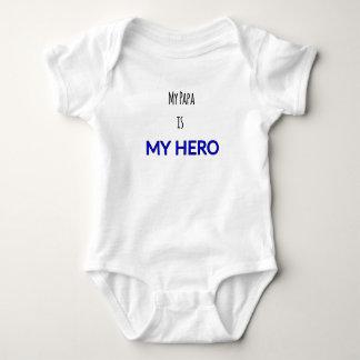 "Body Para Bebê Onsie infantil - ""minha papá é impressão do meu"