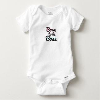 """Body Para Bebê Onsie """"nascer a ser chefe"""" cor de 2 camadas"""