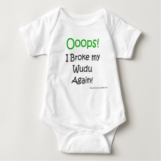 Body Para Bebê Ooops! Eu quebrei meu Wudu outra vez!