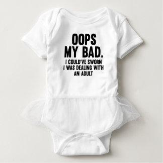 Body Para Bebê Oops meu mau