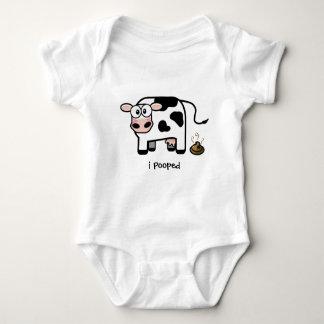 Body Para Bebê Oops vaca engraçada de I Pooped | Pooping