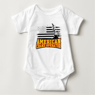 Body Para Bebê Operador de guindaste americano