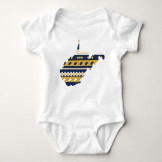 Body Para Bebê Orgulho do estado de West Virginia