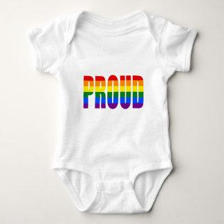 Body Para Bebê ORGULHOSO (arco-íris)