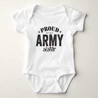 Body Para Bebê Orgulhoso de minha irmã do EXÉRCITO