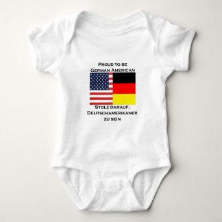Body Para Bebê Orgulhoso ser americano alemão