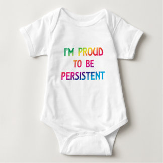 Body Para Bebê Orgulhoso ser persistente - pia batismal do