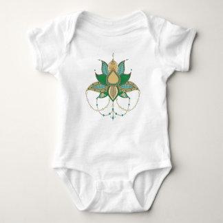 Body Para Bebê Ornamento étnico da mandala dos lótus da flor