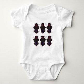Body Para Bebê Ornamento preto e branco