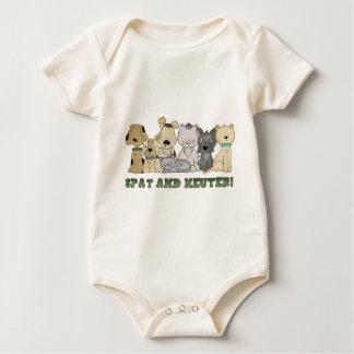 Body Para Bebê Os animais bonitos Spay e neutralizam o texto