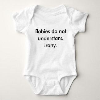 """Body Para Bebê Os """"bebês não compreendem t-shirt irónico da"""