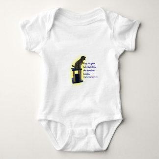 Body Para Bebê Os cães falam