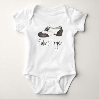 Body Para Bebê Os calçados futuros do professor da dança de