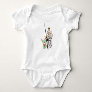 Body Para Bebê Os cavaleiros, ilustração bonito dos animais