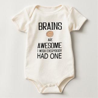 Body Para Bebê Os cérebros são impressionantes