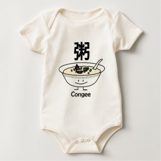 Body Para Bebê Os chineses da bacia do gruel do papa de aveia do