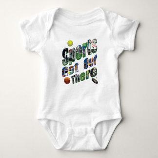 Body Para Bebê Os esportes saem lá do logotipo da imagem,