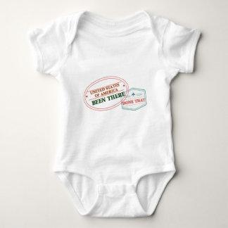 Body Para Bebê Os Estados Unidos da América feito lá isso