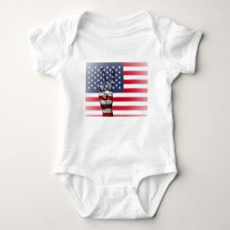 Body Para Bebê Os Estados Unidos dos EUA nós nação da mão da paz