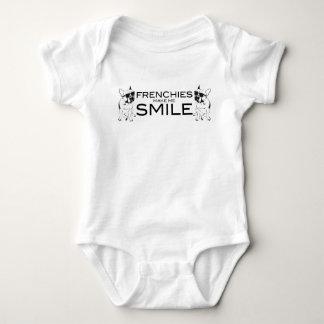 Body Para Bebê Os Frenchies fazem-me sorrir amantes do buldogue
