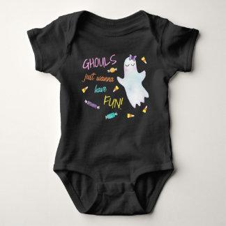 Body Para Bebê Os Ghouls apenas querem ter o divertimento