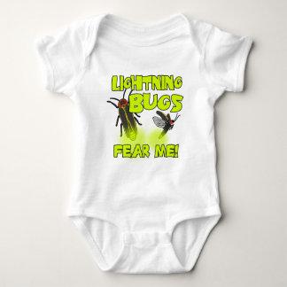 Body Para Bebê Os insetos de relâmpago temem-me