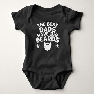 Body Para Bebê Os melhores pais têm barbas grandes