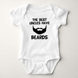 Body Para Bebê Os melhores tios têm barbas