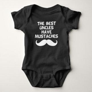 Body Para Bebê Os melhores tios têm os bigodes