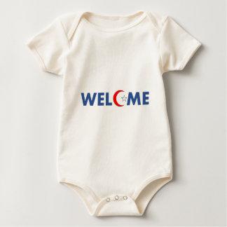 Body Para Bebê Os muçulmanos dão boas-vindas aqui