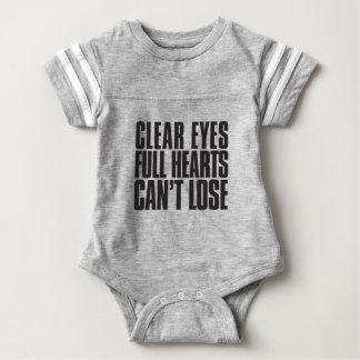 Body Para Bebê Os olhos claros, corações completos, não podem