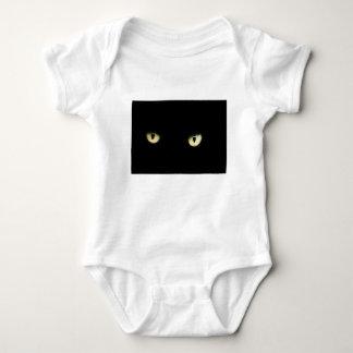 Body Para Bebê Os olhos de gato preto
